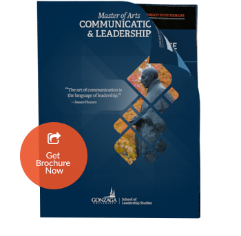 Communication & Leadership Brochure Thumbnail Front View